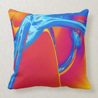 Gráfico abstracto del arte pop cojín decorativo