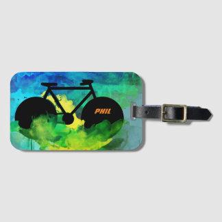 gráfico-arte fresco de la bicicleta etiqueta para maletas