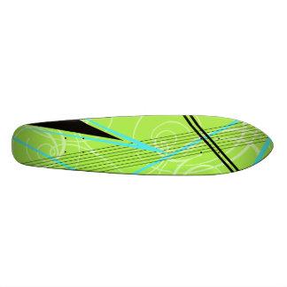 Gráfico azul y verde patin