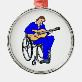 gráfico blue png de la silla de ruedas del guitarr ornamentos de navidad