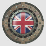 Gráfico británico de acero industrial del disco de pegatina