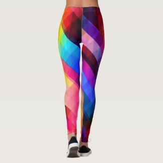 Gráfico colorido de las mujeres de los chicas de leggings