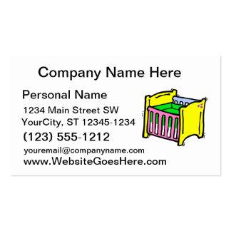 gráfico colorido del pesebre del bebé plantillas de tarjeta de negocio