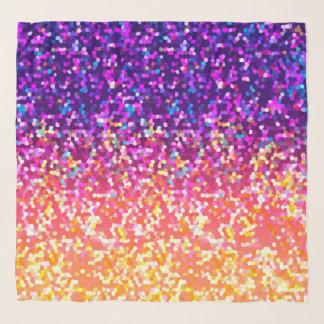 Gráfico cuadrado del purpurina de la bufanda