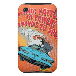 Gráfico de Batmobile iPhone 3 Tough Cárcasas