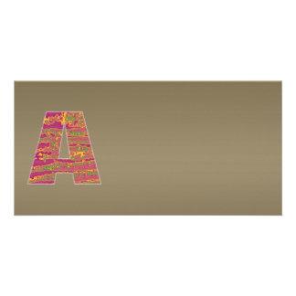 Gráfico de cobre brillante de la sombra n Art101 Tarjeta Fotográfica Personalizada