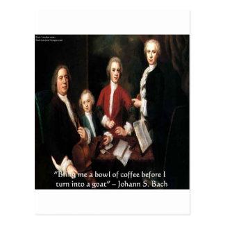 Gráfico de JS Bach y regalos y tarjetas divertidos
