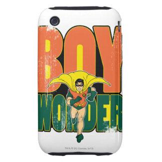 Gráfico de la maravilla del muchacho tough iPhone 3 protectores
