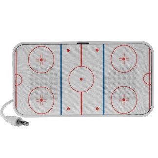 gráfico de la pista de hockey sobre hielo altavoz