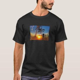 Gráfico de la puesta del sol camiseta