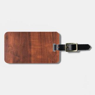 Gráfico de madera de madera del modelo de la etiqueta para maletas