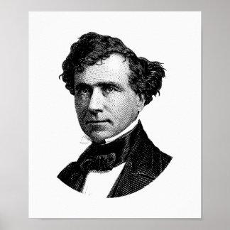 Gráfico de presidente Franklin Pierce Póster