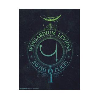 Gráfico del encanto el   Wingardium Leviosa de Lienzo