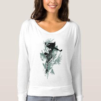 Gráfico del follaje del aterrizaje de la Mujer Camiseta