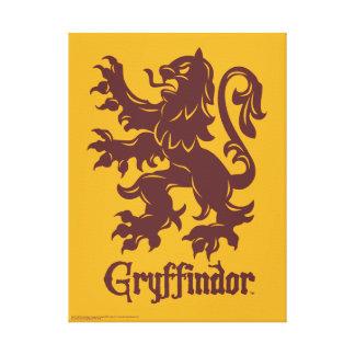 Gráfico del león de Harry Potter el   Gryffindor Impresión En Lienzo