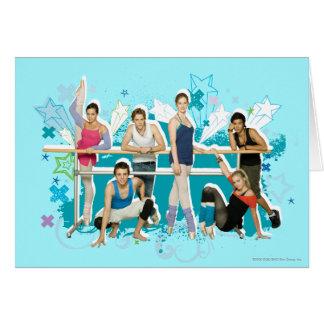 Gráfico del molde de la academia de la danza tarjeta