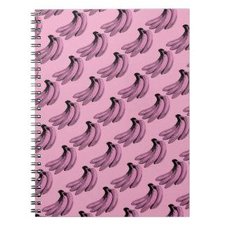 Gráfico del plátano del rosa del arte pop cuaderno
