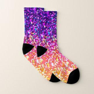 Gráfico del purpurina de los calcetines