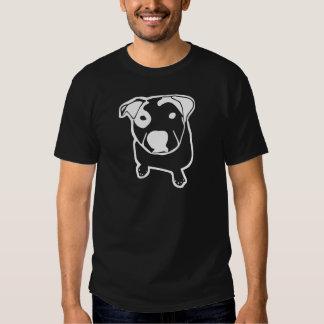 Gráfico del T-Hueso del pitbull Camisas