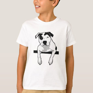 Gráfico del T-Hueso del pitbull Camiseta