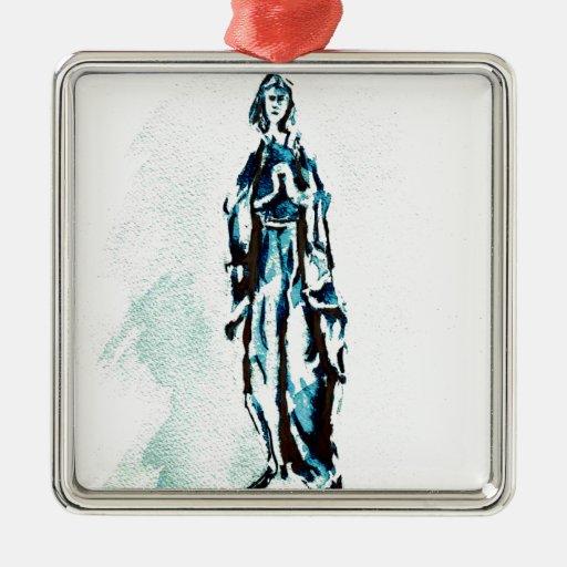 Gráfico derecho del Virgen María Ornamento Para Reyes Magos