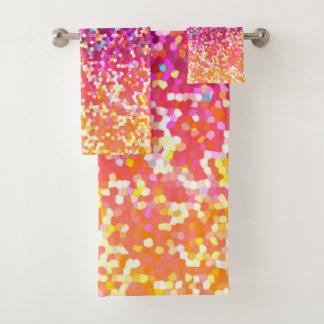Gráfico determinado del purpurina de la toalla