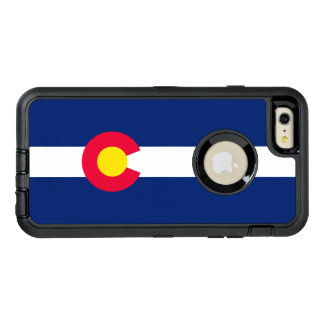 Gráfico dinámico de la bandera del estado de funda OtterBox defender para iPhone 6 plus