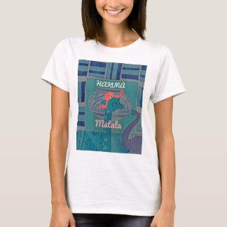 Gráfico divertido femenino lindo hermoso de la camiseta