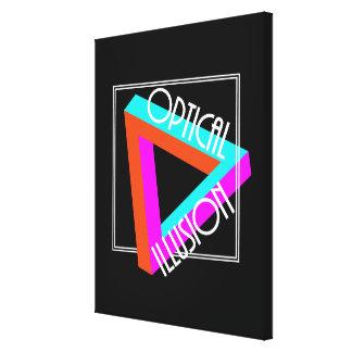 Gráfico enrrollado del triángulo moderno de la lienzo