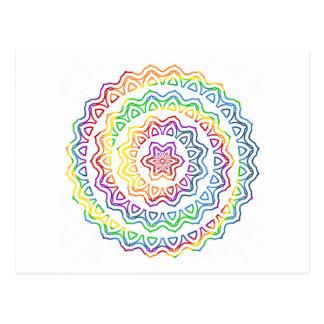 Gráfico espiral de la mandala del triángulo del postal