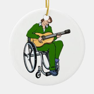 gráfico green png de la silla de ruedas del guitar ornamento de navidad