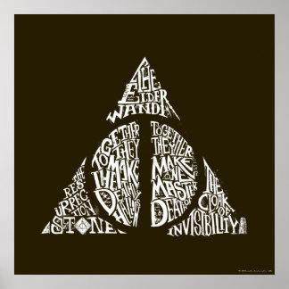 Gráfico MORTAL de la tipografía de HALLOWS™ Póster