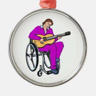 gráfico purple.png de la silla de ruedas del guita adorno para reyes