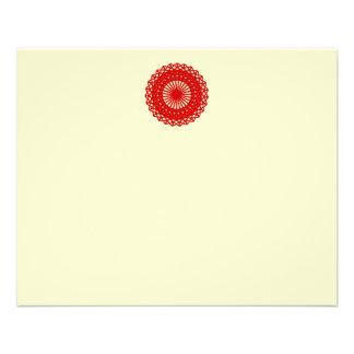 Gráfico redondo rojo del modelo del cordón folleto 11,4 x 14,2 cm