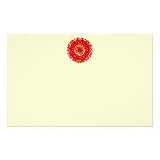 Gráfico redondo rojo del modelo del cordón folleto 14 x 21,6 cm