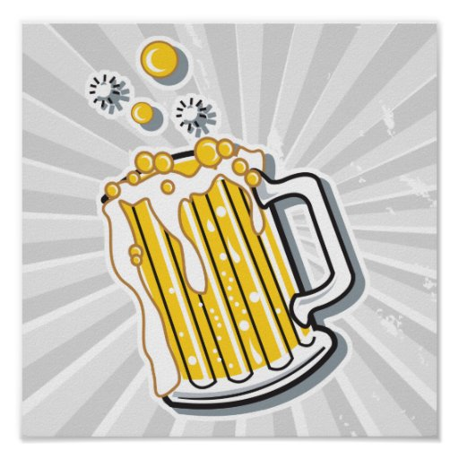 gráfico retro de la cerveza del estilo impresiones