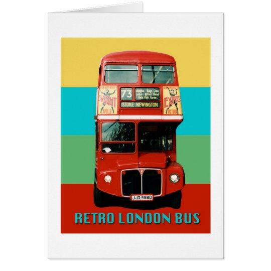 Gráfico retro del autobús de Londres Tarjeta De Felicitación