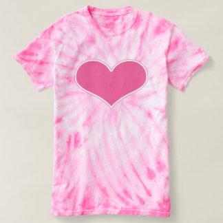 Gráfico rosado grande retro del corazón camiseta