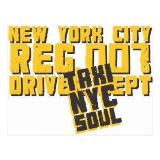 gráfico urbano del alma del nyc del taxi postales