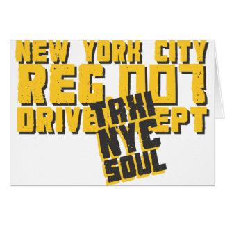 gráfico urbano del alma del nyc del taxi felicitaciones