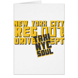 gráfico urbano del alma del nyc del taxi tarjetas