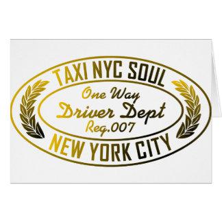 gráfico urbano del alma del nyc del taxi felicitación