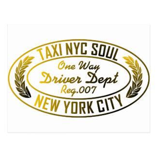gráfico urbano del alma del nyc del taxi postal