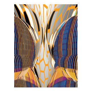 Gráficos azules abstractos de FineArt Postal