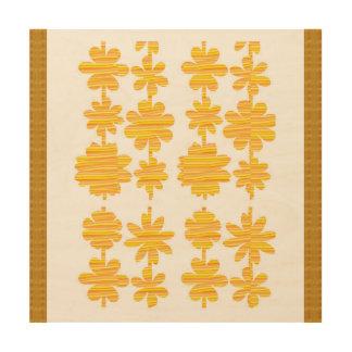 Gráficos de madera de la pared del partido de la impresión en madera