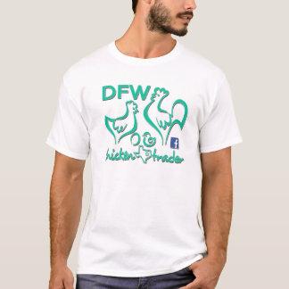 Gráficos del comerciante/de la turquesa del pollo camiseta