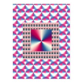 Gráficos ROSADOS elegantes del diamante de la chis Postal