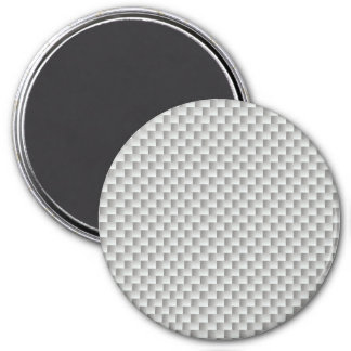 Grafito blanco y gris de la fibra de carbono imán redondo 7 cm