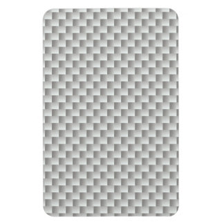 Grafito blanco y gris de la fibra de carbono imanes
