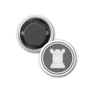 Grajo blanco del pedazo de ajedrez imán redondo 3 cm